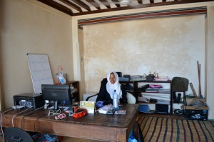 Hafswa in the Air Lamu office