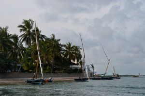 Mozambiquan dhows in Lamu