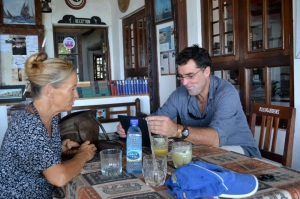 Roland Purcell and Bimbi Dyer in Lamu